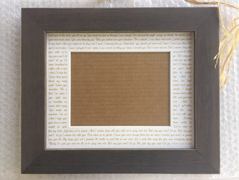 Wedding song lyrics Photo Mat personalized with Names first image 0