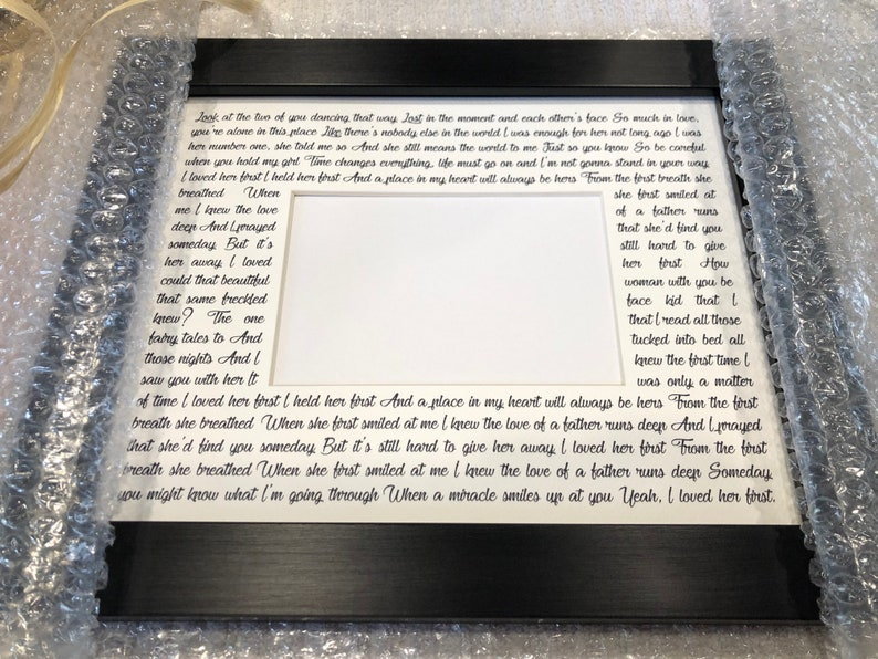 Personalized Framed Wedding Gift for Couples Unique Gift for image 0