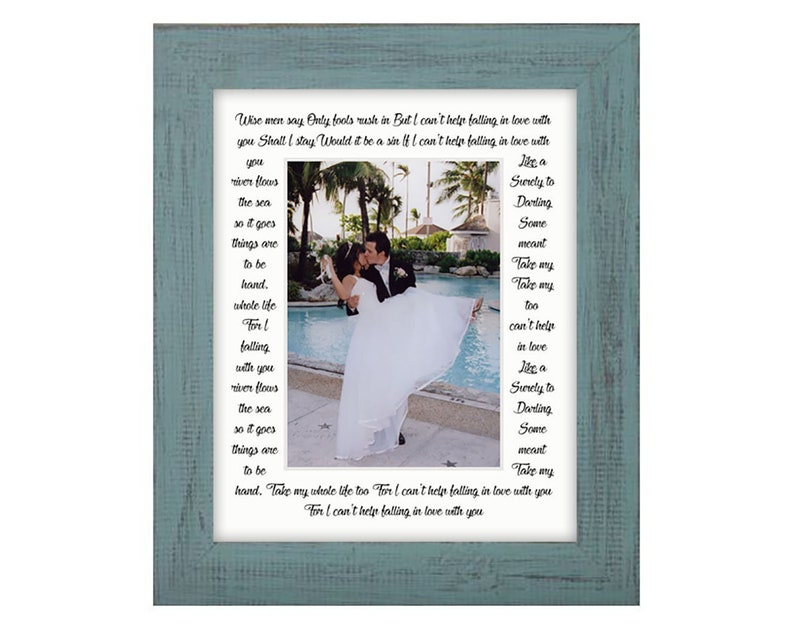 8x10 I Can't Help Falling In Love With You Picture Mat and image 0