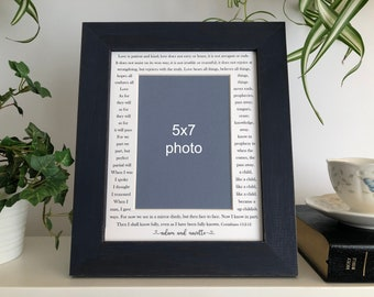 8x10 Personalized Photo Frame - Any quotes, song lyrics, text, custom names and dates
