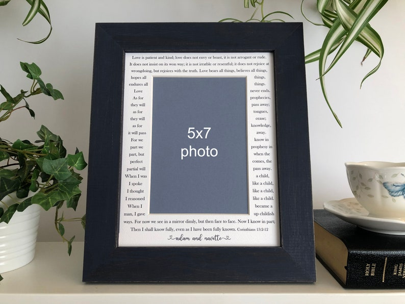 8x10 Personalized Photo Frame  Any quotes song lyrics text image 0