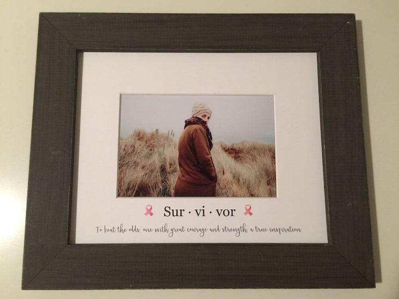 8x10 Survivor Gift  Cancer survivor No one fights alone image 0