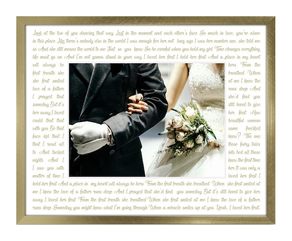 11x14 Custom Picture Mat Frame Any song lyrics quotes | Etsy