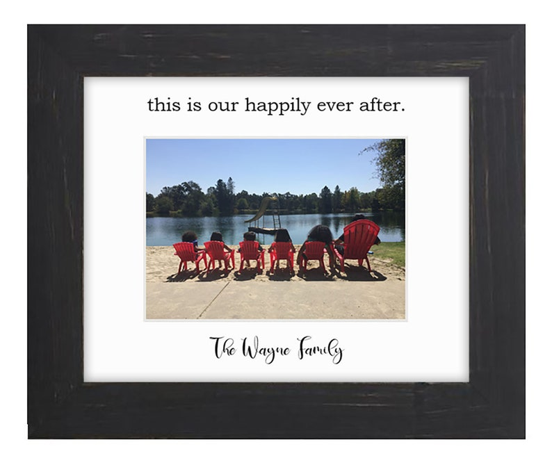 8x10 Custom Vacation Picture Mat and Frame  Frame your summer image 0