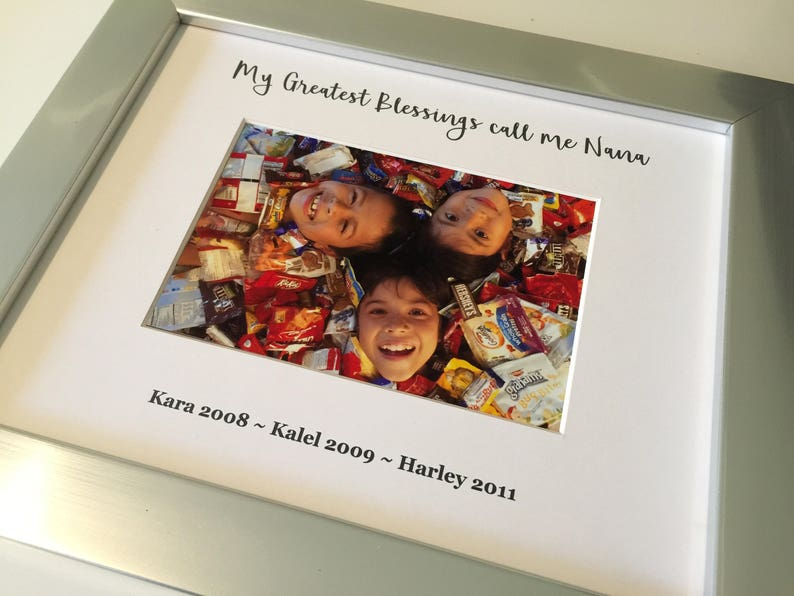 8x10 Custom Photo Frame  Grandparent gifts hostess gifts image 0