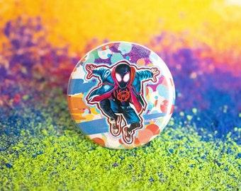 Miles Morales Spider-Verse Button/Magnet
