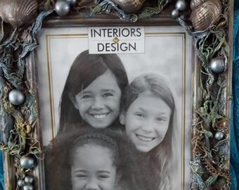 On the beach picture frame