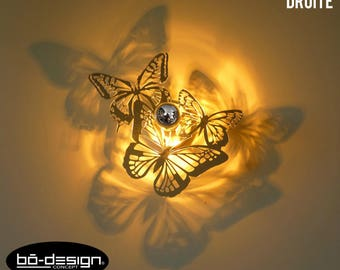Luminaire designapplique murale lotusversion cm etsy