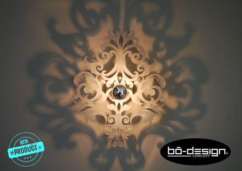 Applique luminaire baroquemodele barocco blanc 30 ou 35 etsy