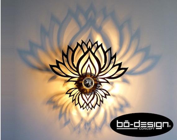 220 fleur De Design luminaire zen Applique luminaire Portée Volts Cm Volts lampe Murale 110 Design Noir ombre 3035 led Ethnique Ou Lotus W29eIbEYDH