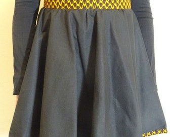 With touch of wax skater skirt