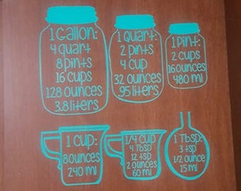 Kitchen Conversion Chart // Measurement Chart // Cooking Measurements // Equivalent Chart