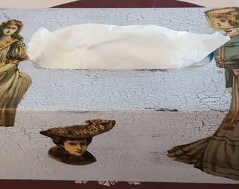 N 615 1900 fashion color prints tissue box