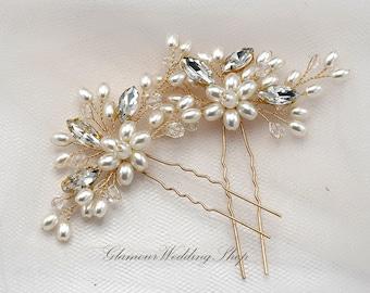 Wedding Hair Pin Bridal Hair Pins Gold Bridal Headpiece Bridal Hairpiece Wedding Hair Bridal Hair Accessory Bridal Hair Piece