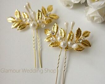 Sale - Gold Hair Pins Wedding Hair Pin Wedding hair clip Bridal Gold Hair Accessories