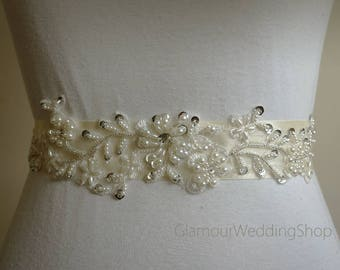 Pearl Belt Bridal Belt Sash Bridal Sash Belt Crystal Sash Rhinestone Belt Wedding Belt Sash Crystal Wedding Belt
