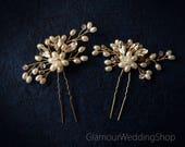 Sale - Wedding Hair Pin Bridal Hair Pins Gold Bridal Headpiece Bridal Hairpiece Wedding Hair Bridal Hair Accessory Bridal Hair Piece
