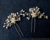 Sale - Hair Pin Bridal Hair Pins Silver Bridal Headpiece Bridal Hairpiece Wedding Hair Bridal Hair Accessory Bridal Hair Piece