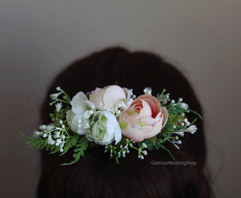 Hair Comb Bridal Hair Accessory Wedding Hair Comb Gift for bridesmaid Flower Girl Hair Flower Hair Comb Bridal Hair Piece