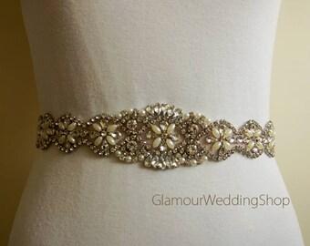 Sale - Wedding Crystal Belt Bridal Sash belt Crystal Belt Bridal Sash Belts  Rhinestone Belt