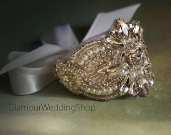 Rhinestone Bracelet Bridal Silver Bracelet Bridal Jewelry Bridal Crystal Bracelet Bridal Accessories Prom Bracelet Bridesmaids Bracelet
