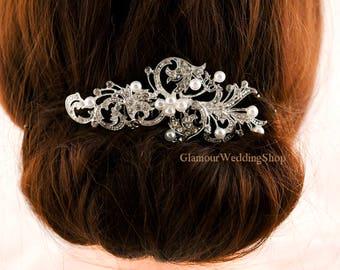 Wedding Hair Comb Silver Hair Comb Bridesmaid's Hair Comb