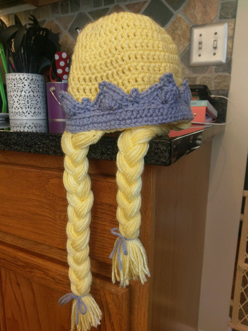 Crochet Princess Hat Princess Beanie with Crown Baby  858d7bd27d4