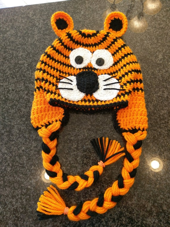 Crochet Tiger Hat Tiger Beanie Baby Shower Gift Tiger  3b93054f8be