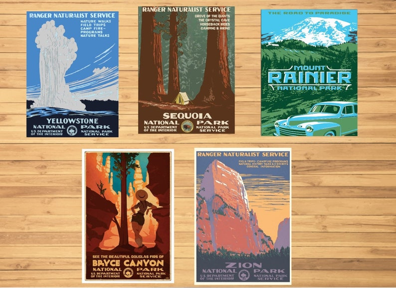 National Park Posters Etsy