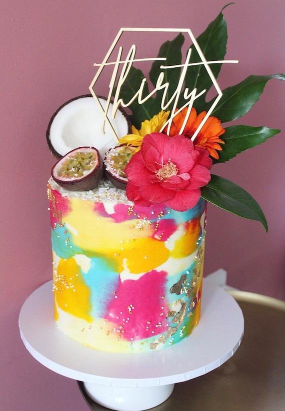 Pleasing Custom Birthday Geometric Cake Topper Age Wooden Laser Cut Etsy Funny Birthday Cards Online Bapapcheapnameinfo