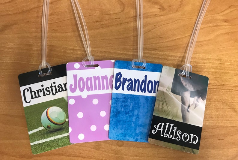 Custom Luggage Tags  Travel Sport Golf Bags Bookbags image 0
