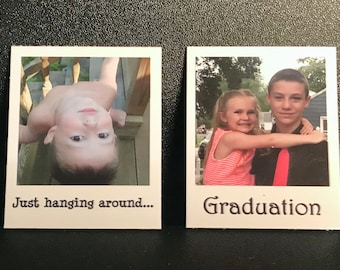 Personalized MEDIUM Refrigerator Magnets - Set of 4