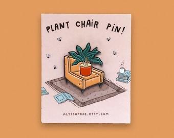 Plant Chair Enamel Pin