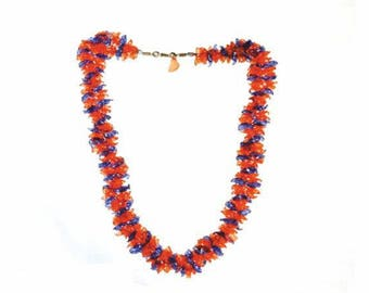 SUNSET necklace, recycled plastic, handmade