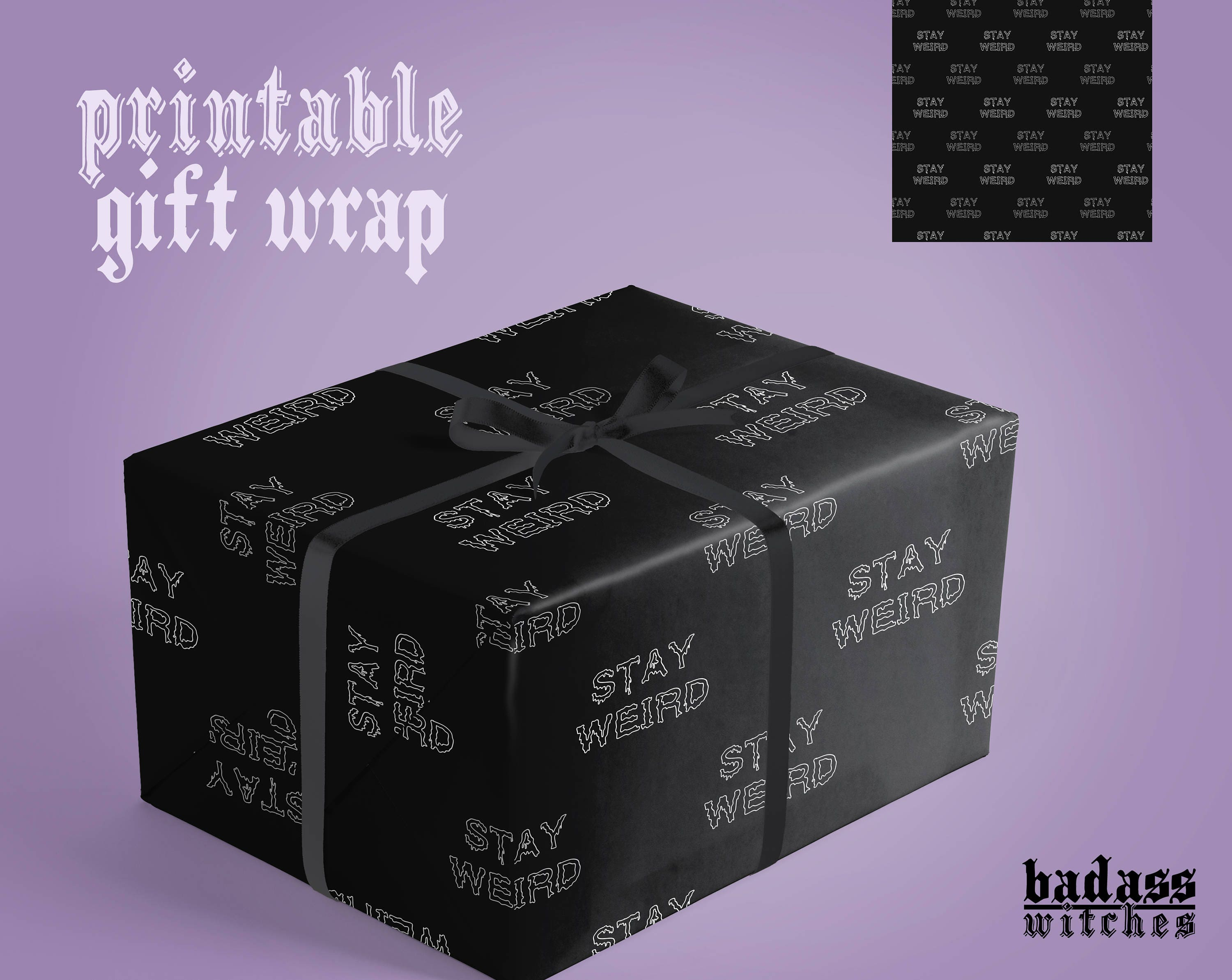 Aesthetic Wrapping Paper Funny Gift Wrap Paper Stay Weird | Etsy