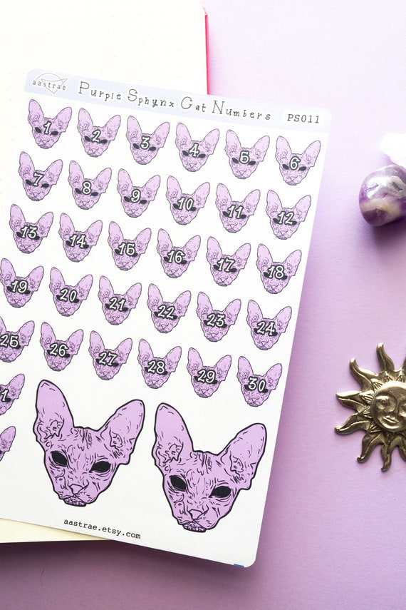 labels tags hairless sphynx cat stickers envelope seals