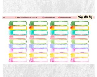 Watercolor headers planner stickers | Erin Condren Planner | Happy Planner | Half boxes |  BS23