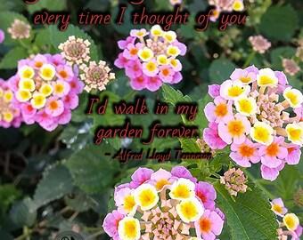 Flower Garden Print - Fine Art Photography - Flower Photography - Quote Photography - Love is in the Air Collection