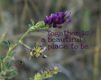 Beautiful Together Print  - Fine Art Photography - Flower Photography - Quote Photography - Love is in the Air Collection