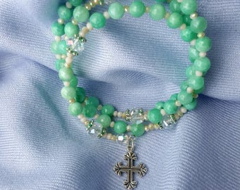 Mint Green Rosary Braclet