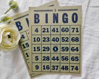 Vintage BINGO Cards - Set Of 2