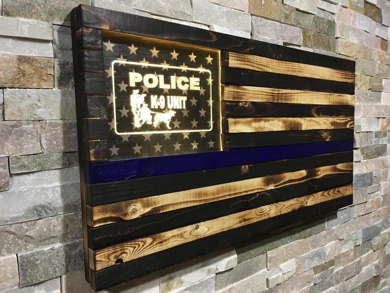 Police K9 Police K-9 K-9 Gift Police Blue Line Thin Blue image 0