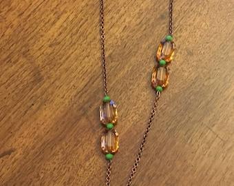 Boho Necklace with Dreamcatcher Pendant