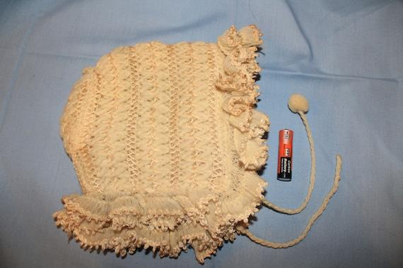 Original Antique Victorian Crocheted Child's Ecru