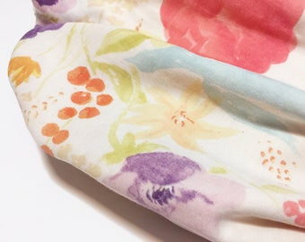 Double gauze Cotton Infinity Scarf/Floral print Infinity Scarf/cotton loop scarf/cotton snood/cotton lightweight scarf/leaf print scarf