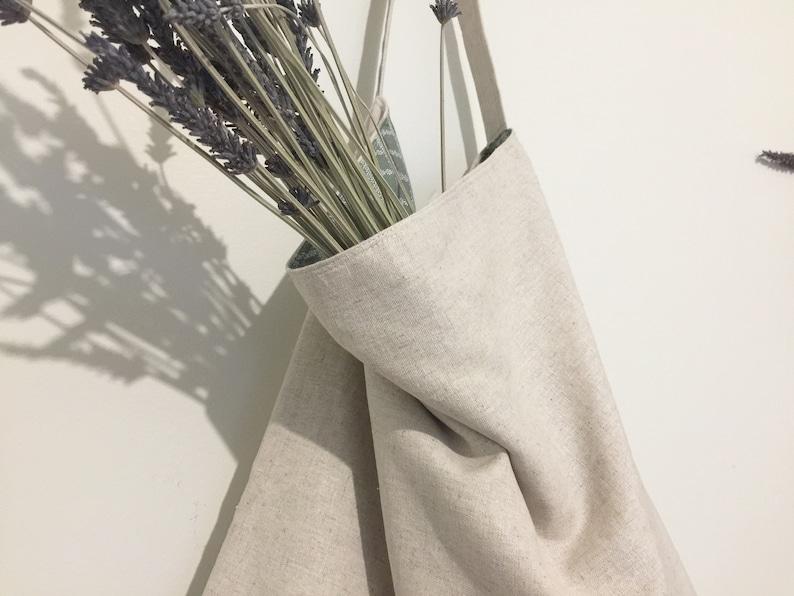 Large Linen-Cotton baglarge market baglarge shopping baglinen everyday totelarge grocery bagnatural linen bagkorean fabric