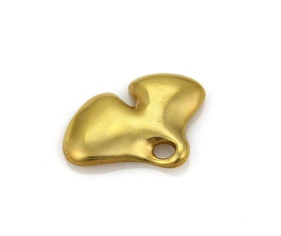 4pcs Raw Brass Curved Pendant 1886C-U-224 100x6mm