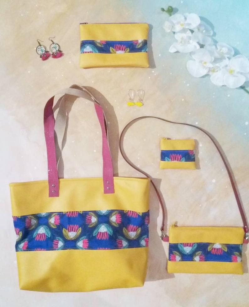 5bbe6011cf Sac cabas moutarde sac cabas fuchsia sac cabas fleur sac | Etsy