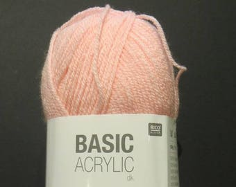 Basic Acrylic DK from Rico Design, 6 colors to choose from, 100 grams 310 yards