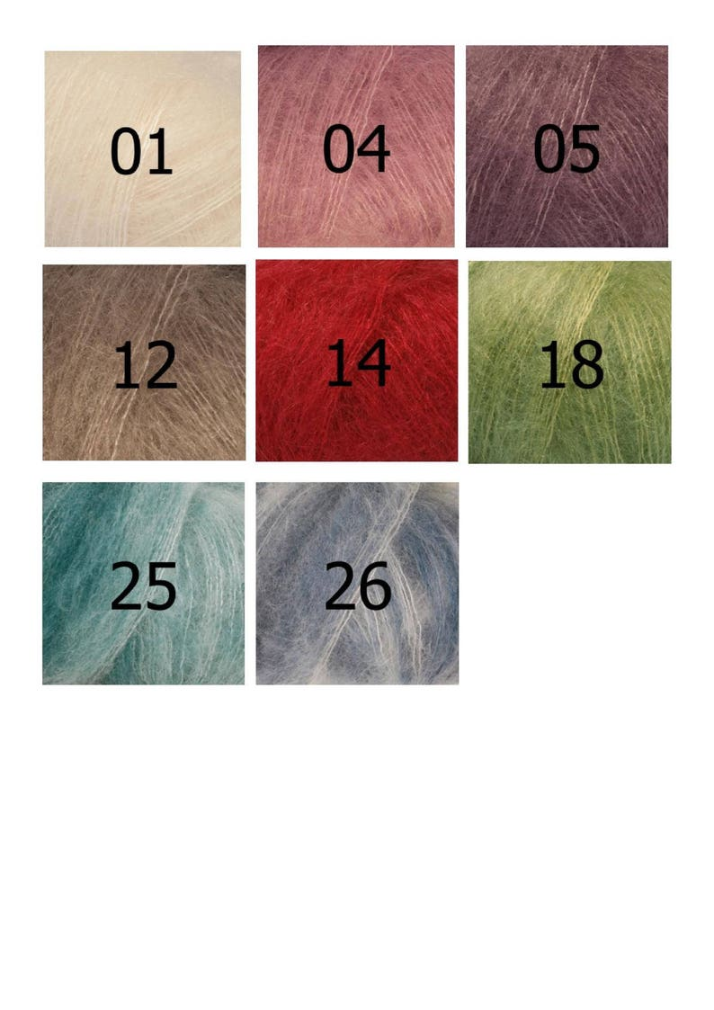 6e9c82f9641 Kid DROPS Silk 8 colors to choose from 75% mohair 25 silk